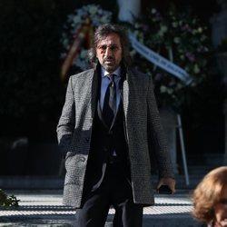 Antonio Carmona en el funeral de la Infanta Pilar