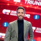 Roberto Leal, muy sonriente en la presentación de 'OT 2020'