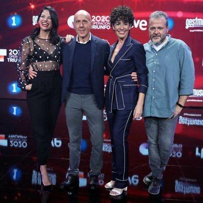 Natalia Jiménez, Javier Llanos, Portu y Nina en la presentación de 'OT 2020'
