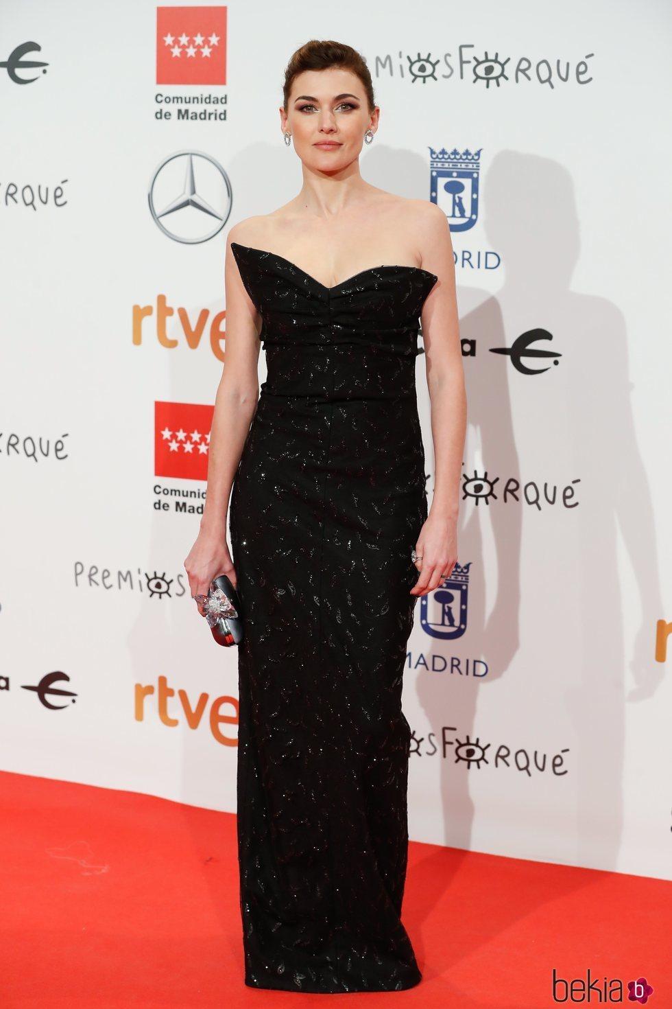 Marta Nieto en la alfombra roja de los Premios Forqué 2020