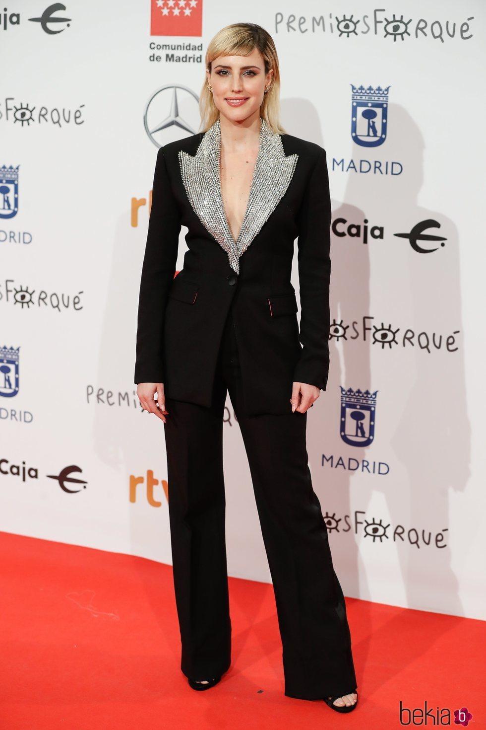 Natalia de Molina en la alfombra roja de los Premios Forqué 2020