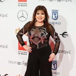Loles León en la alfombra roja de los Premios Forqué 2020