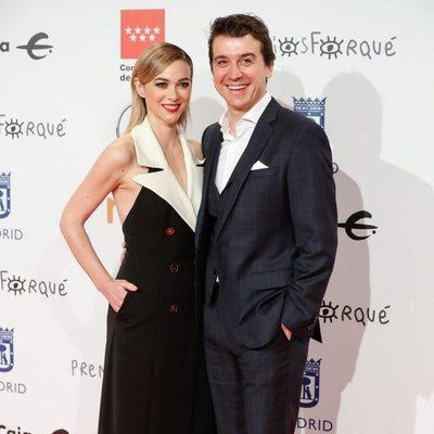 Marta Hazas y Javier Veiga en la alfombra roja de los Premios Forqué 2020