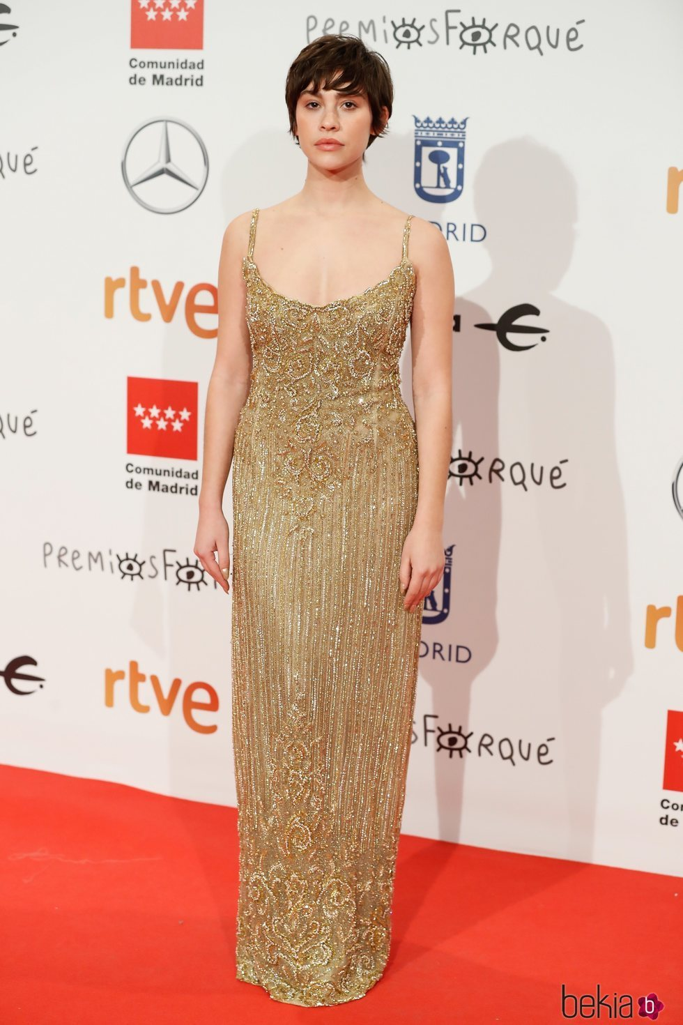 Greta Fernández en la alfombra roja de los Premios Forqué 2020