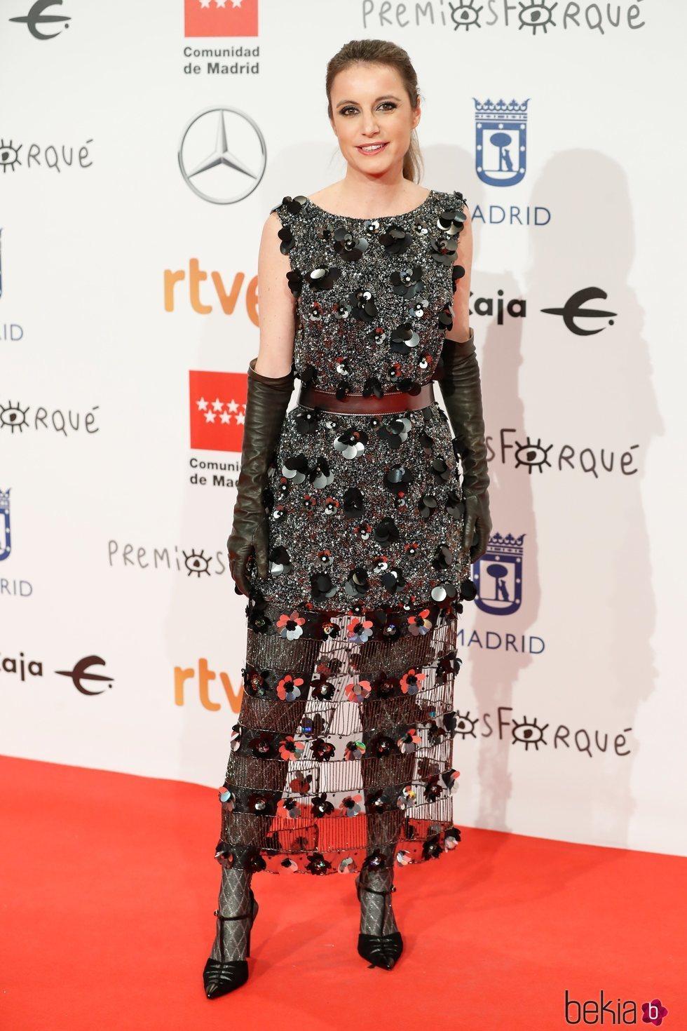 Andrea Levy en la alfombra roja de los Premios Forqué 2020
