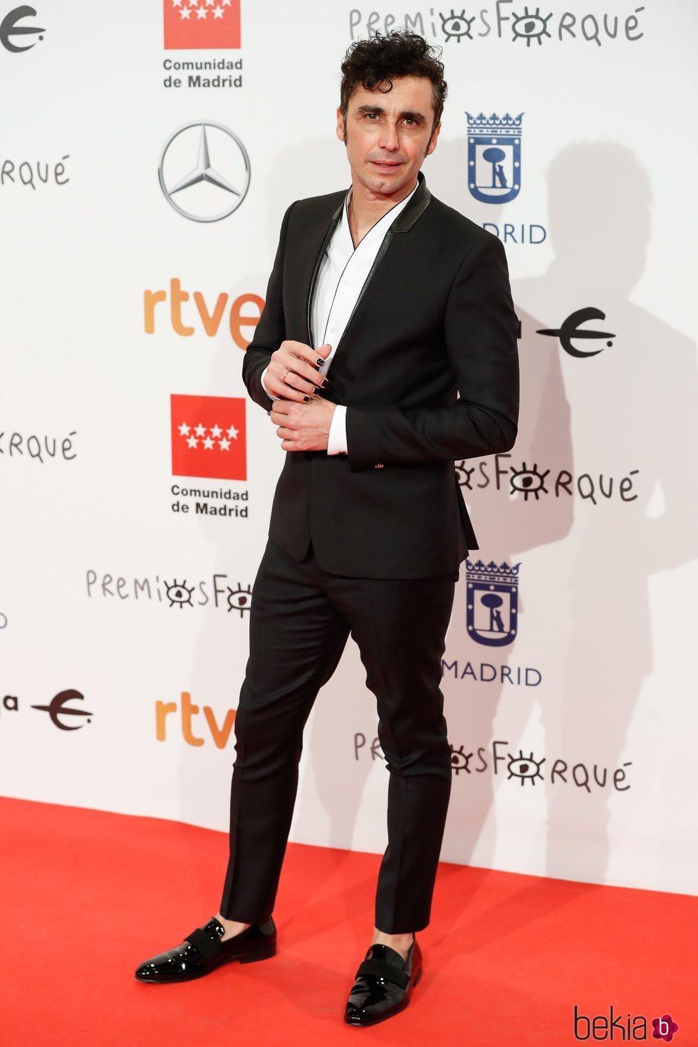 Canco Rodríguez en la alfombra roja de los Premios Forqué 2020