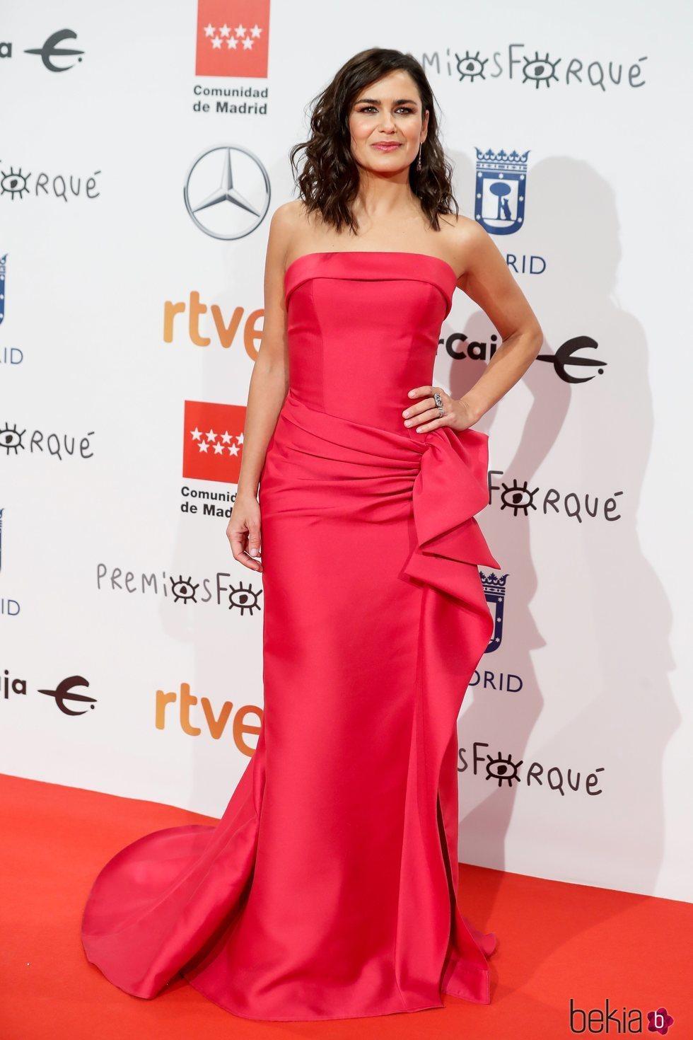 Elena Sánchez en la alfombra roja de los Premios Forqué 2020