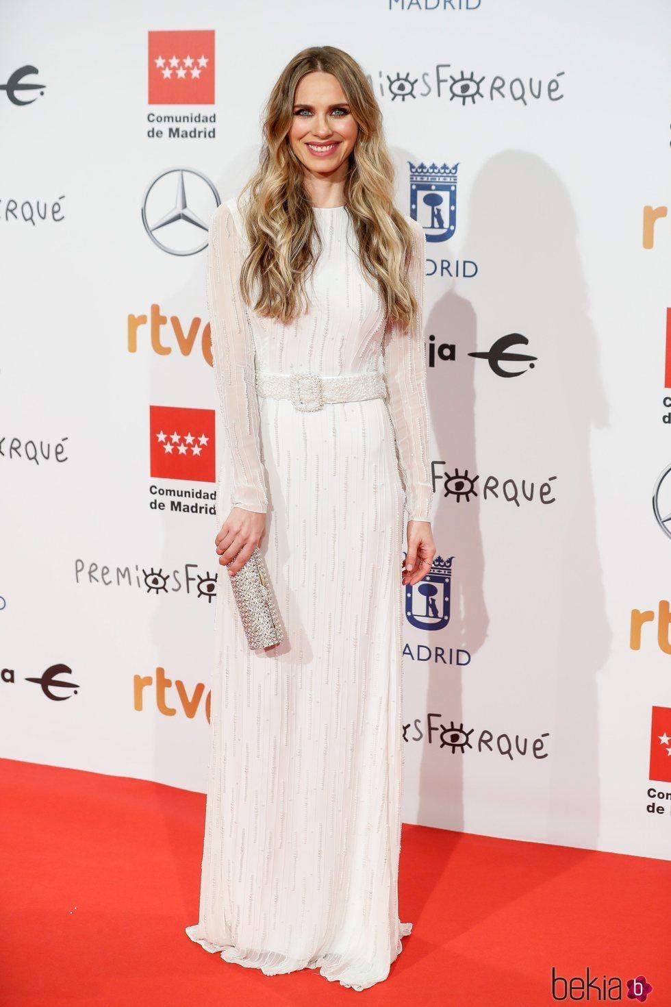 Vanesa Romero en la alfombra roja de los Premios Forqué 2020