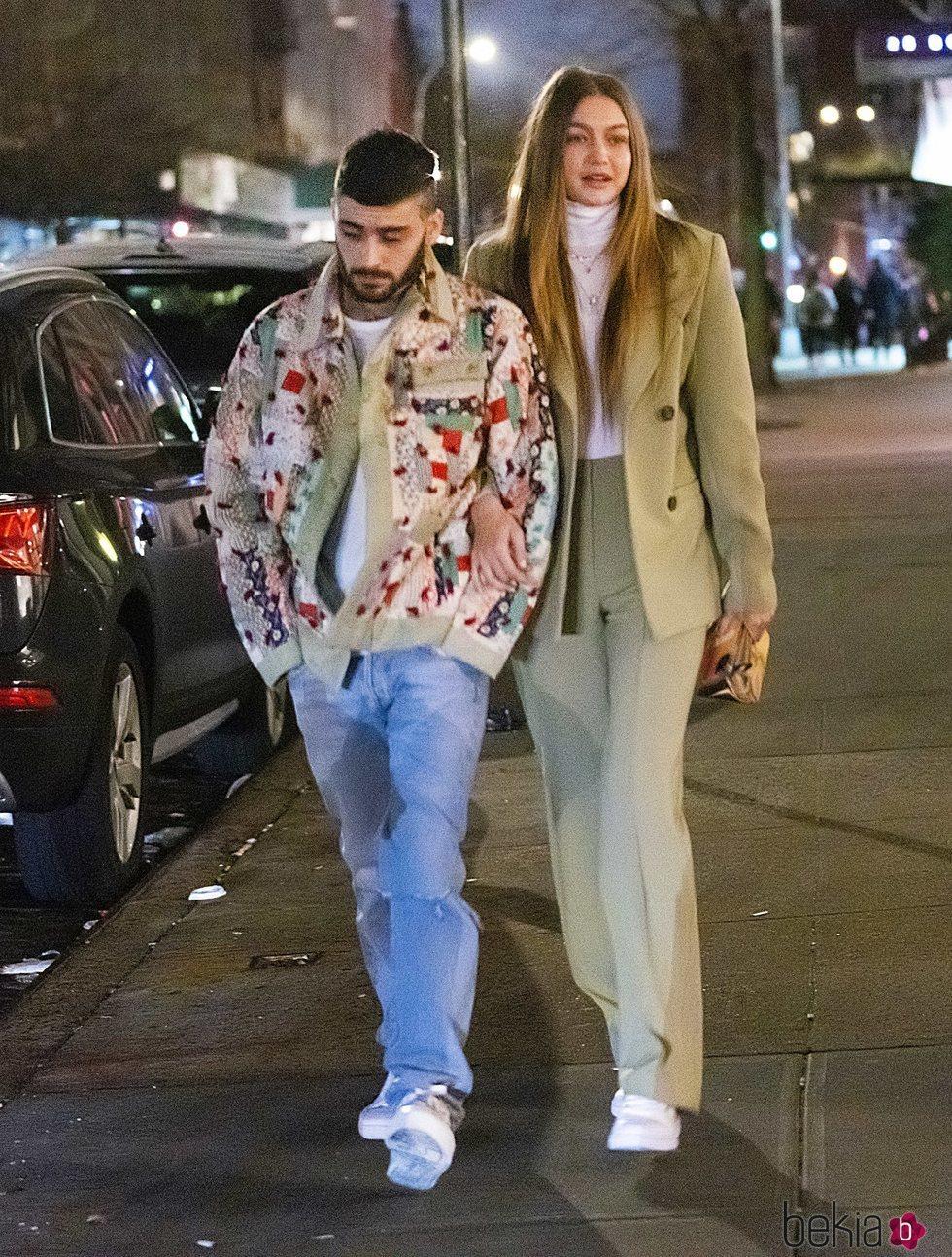 Zayn Malik celebrando su cumpleaños en Nueva York con Gigi Hadid