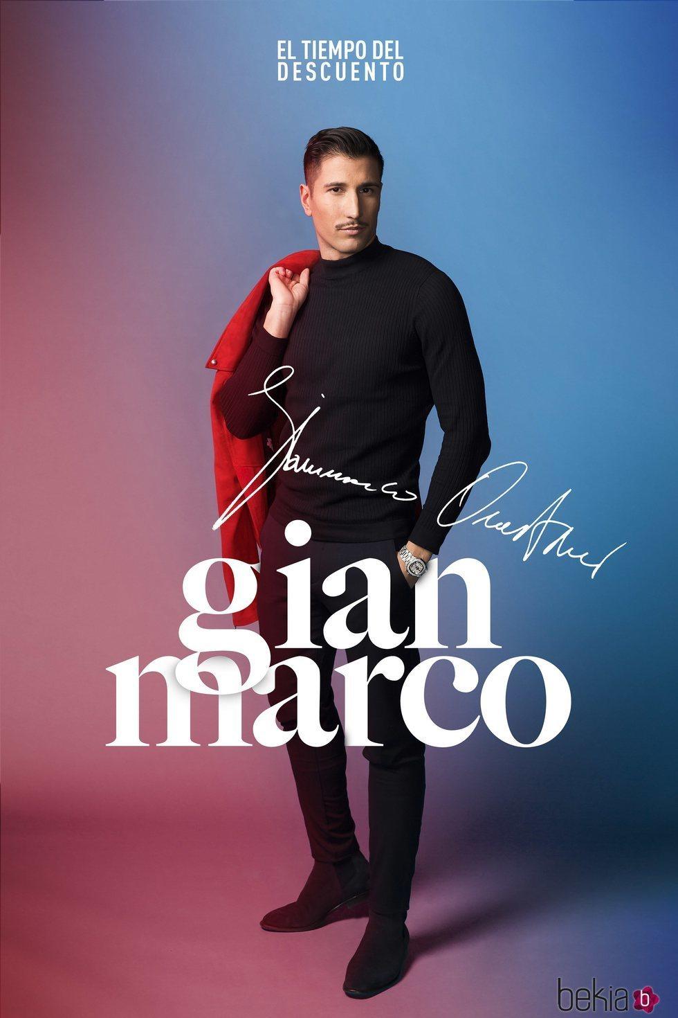 Gianmarco Onestini en la fotografía oficial de 'El tiempo del descuento'
