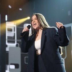 Eva Barreiro durante su actuación en la gala 0 de 'OT 2020'