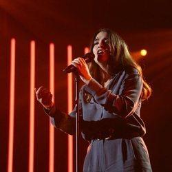 Anaju durante su actuación en la gala 0 de 'OT 2020'