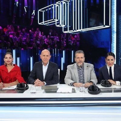Natalia Jiménez, Javier Llano, Portu y Nina en la gala 0 de 'OT 2020'