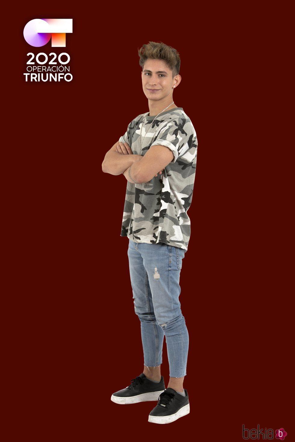 Nick en la foto oficial de 'OT 2020'