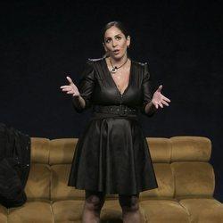 Anabel Pantoja a su llegada a la casa de 'El tiempo del descuento' en la gala de estreno