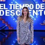 Irene Rosales en la gala de estreno de 'El tiempo del descuento'