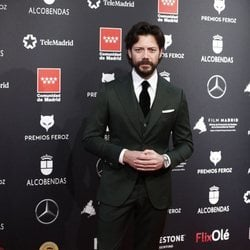 Álvaro Morte en la alfombra roja de los Premios Feroz 2020