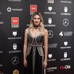 Amaia Salamanca en la alfombra roja en los Premios Feroz 2020