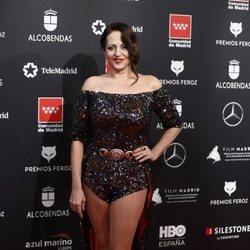 Yolanda Ramos en la alfombra roja de los Premios Feroz 2020