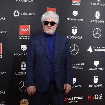 Pedro Almodóvar en la alfombra roja de los Premios Feroz 2020