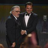 Leonardo DiCaprio y Robert De Niro en los Premios SAG 2020