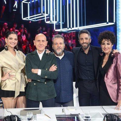 Roberto Leal con el jurado de 'Operación Triunfo 2020' El jurado de OT