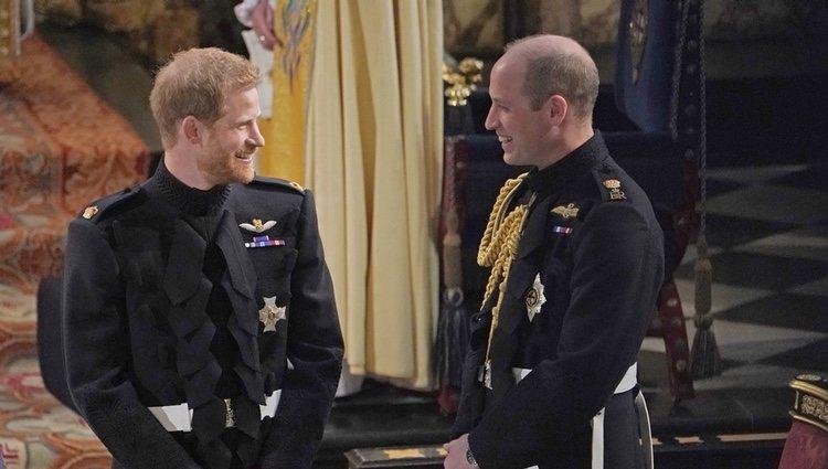 Los Príncipes Guillermo y Harry en la boda del Príncipe Harry y Meghan Markle