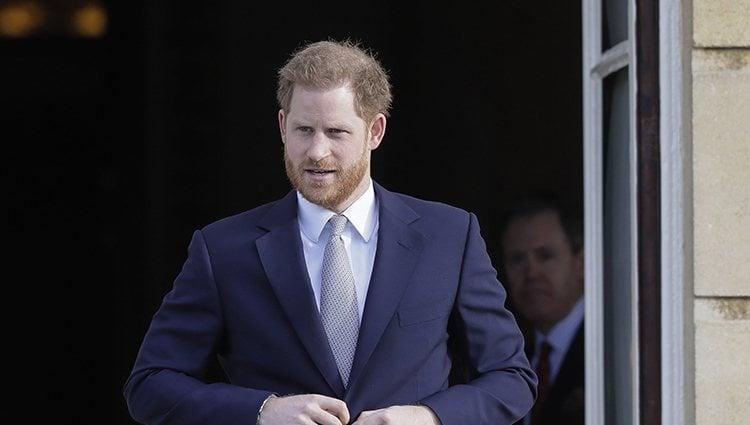 El Príncipe Harry en un acto en Buckingham Palace tras en Megxit