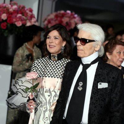 Carolina de Mónaco y Karl Lagerfeld en el Baile de la Rosa 2017