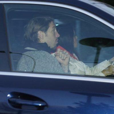 Pilar Rubio acudiendo a un revisión médica por su embarazo junto a Sergio Ramos