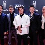 El grupo Dvicio en los Premios Odeón 2020