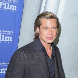 Brad Pitt llegando al Festival de Cine de Santa Bárbara 2020