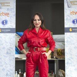 María Escoté en la presentación de la tercera temporada de 'Maestros de la Costura'