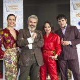 María Escoté, Palomo Spain, Lorenzo Caprile y Raquel Sánchez Silva en la presentación de la tercera temporada de 'Maestros de la Costura'