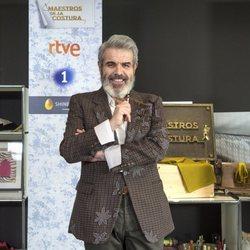 Lorenzo Caprile en la presentación de la tercera temporada de 'Maestros de la Costura'