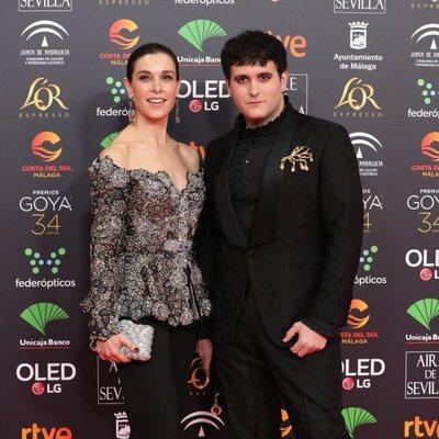 Raquel Sánchez Silva y Palomo Spain en la alfombra roja de los Goya 2020