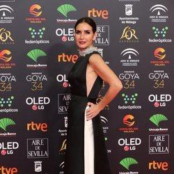 Belén López en la alfombra roja de los Goya 2020