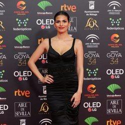 Sara Sálamo en la alfombra roja de los Goya 2020