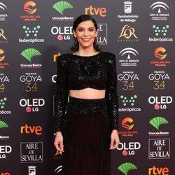 Irene Visedo en la alfombra roja de los Goya 2020