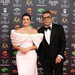 Silvia Abril y Andreu Buenafuente en la alfombra roja de los Goya 2020