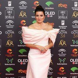 Silvia Abril en la alfombra roja de los Goya 2020