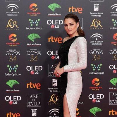 Andrea Duro en la alfombra roja de los Goya 2020