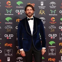 Félix Gómez en la alfombra roja de los Goya 2020