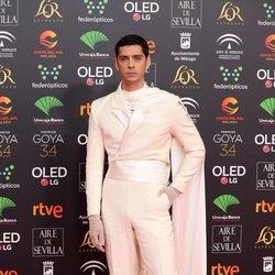 Eduardo Casanova en la alfombra roja de los Goya 2020