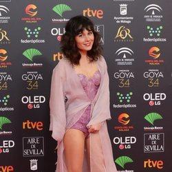 Nadia de Santiago en la alfombra roja de los Goya 2020