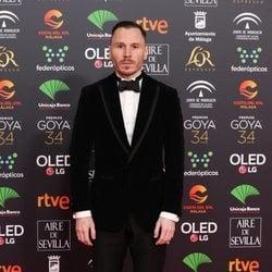 Rubén Ochandiano en la alfombra roja de los Goya 2020