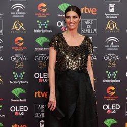 Elia Galera en la alfombra roja de los Goya 2020