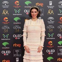 Cristina Brondo en la alfombra roja de los Goya 2020