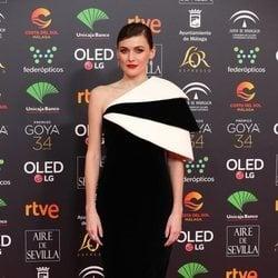Marta Nieto en la alfombra roja de los Goya 2020