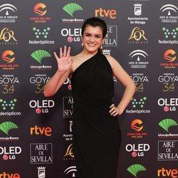 Amaia Romero en la alfombra roja de los Goya 2020